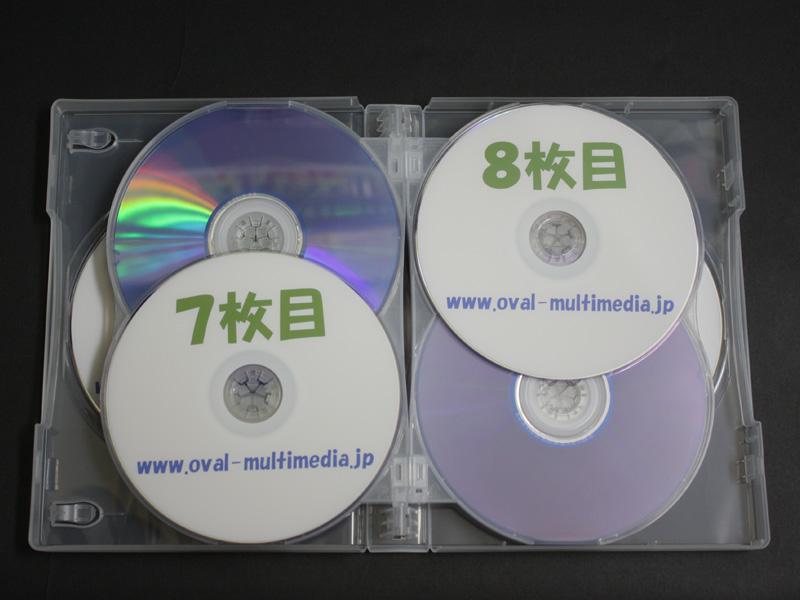 12枚収納CD/DVDケースクリアブルー