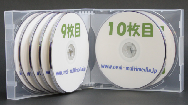12枚収納CD/DVDケース