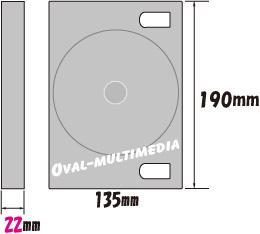 6枚収納DVD・BDケース外形サイズ