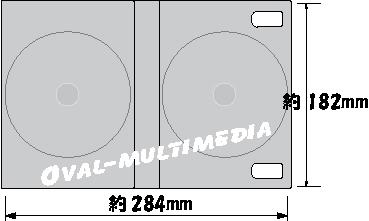 8枚収納DVD・BDケースジャケットサイズ